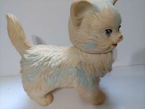 Vintage 1960 Toy Edward Mobley Arrow Rubber Sleepy Eyed Kitten Kitty Cat squeaks