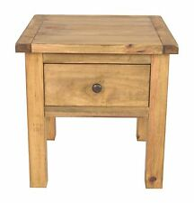 Pine Lamp Table With Drawer Waxed Finish
