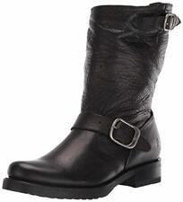 FRYE Women's Veronica Short Biker Buckle Boots Black Size US 6.5B *   #433