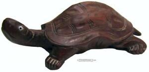 """Rosewood Miniature Turtle Tortoise Figurine Mid Century 50s Chinese 10.5 cm / 4"""""""