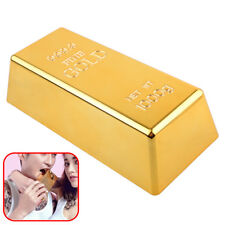 Fake Gold Bar Paperweight Desk Office Table Plate Bullion Door Stop Decoration