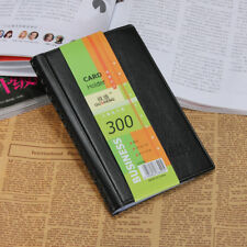 Leather 300 Cards Business Name ID Credit Card Holder Book Case Keeper Organizer