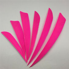 "50pcs 3"" 4"" 5"" Pink Archery Fletches Real Feathers Archery Accessories"