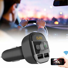 Wireless Bluetooth Car Kit Dual USB Charger Handsfree FMTransmitter SDCard MP3PL