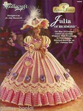 Julia of Richmond Ladies of Fashion Crochet Gown Pattern for Barbie Dolls NEW