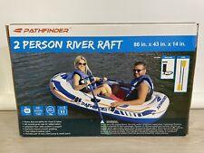 Pathfinder 2 Person Inflatable River Raft Boat Pump 2 Oars Kayak Rafting NEW