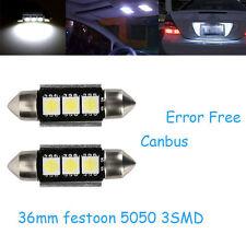 2 Stück 36mm LED Kennzeichenbeleuchtung Weiß Nummernschildbeleuchtung Canbus