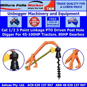 Millers Falls TWM PTO Post Hole Digger 80HP Gearbox