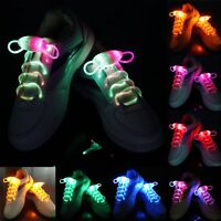 Cool 3 Modes Light-Up LED Flash Waterproof Glow Shoelaces Strings Party Disco