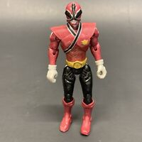 "Power Rangers Samurai Red Mega Fire Ranger 4"" Action Figure Bandai Loose Waist"