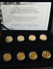 Les 16 pièces plaqué or présidentielle américaine Dollar Collection (2)