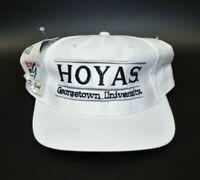 Georgetown Hoyas Vintage 90s The Game Split Bar Snapback Cap Hat - NWT