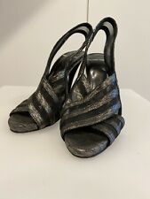 Pierre Hardy Grey High Heels 38 (Run Small 37) - Authentic - Made In Italy