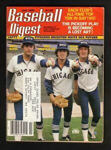 Chicago White Sox Lefty Pitchers--Burns--Trout--Baumgarten--1980 Baseball Digest