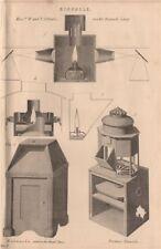 BINNACLES. Gilbert's double binnacle Lamp; Royal Navy; Preston's binnacle 1880