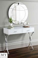MY-Furniture  White Glass Dressing Console/Table - AURELIA