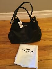 COACH Lexi Handbag Purse Black Pebble Leather NEW WITH TAGS AND DUST BAG
