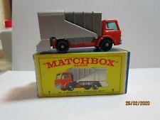 Matchbox 2 (Two) No 7 REFUSE  TRUCKs orange/grey  BOXED