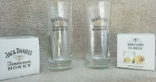 Official Jack Daniels Honey Tall Rocks Glass & Honeycomb Ice Mould package