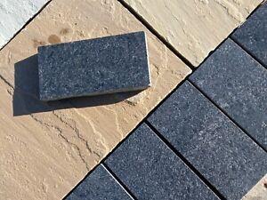 Black Granite Paving Setts, 200x100x25mm, Natural Granite, Ideal for Edgings