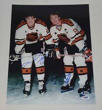 NHL GREATS WAYNE GRETZKY, MARIO LEMIEUX SIGNED AUTOGRAPH 11x14 PHOTO PSA/DNA BAS