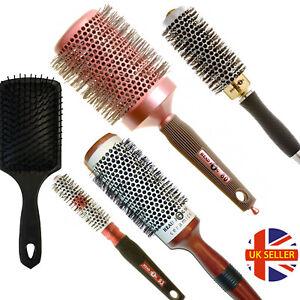 Ceramic Bristle Detangling Nylon Brush Large Curly Hair Style Tools Womens Comb