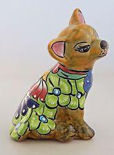 Mexican  Talavera Chihuahua Dog Handmade  Decorative Folk Art Hand Painted  # 08