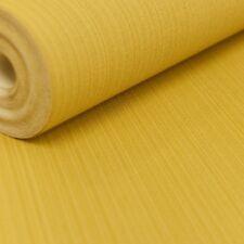Rasch Plain Mustard Textured Vinyl Yellow Wallpaper 513332 Stylish Striped Linen