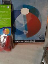 """2 Inflatable Beach Balls, 12"""" Rainbow Beach Ball Pool Toys"""