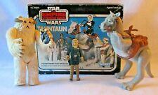 Vintage TAUNTAUN Star Wars playset  with Box/ Wampa/ and Han Solo Figure #39820