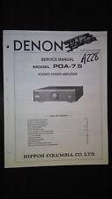 Denon poa-7.5 service manual original repair book stereo power amp amplifier