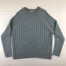 Carolyn Taylor Sweater Raglan Sleeves Rolled Crew Neck Gray Heather  Size XL
