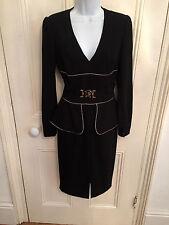 Roberto Cavalli Class Black Peplum Vintage Style Dress UK 8  IT 40 - Lovely!