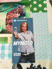 "RARO DEPLIANT, BROCHURE TELEFONINO ""MOTOROLA MYMOTO V220"""