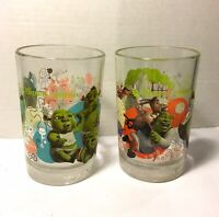 DreamWorks 2007 - Shrek The Third - McDonalds Collectible Glasses  - Lot Of 2