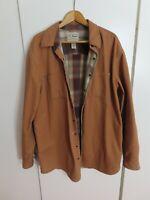 LL Bean D YQ22 Canvas Coat Flannel Lining Mens, XL, Tall, Fall or Spring Temps.
