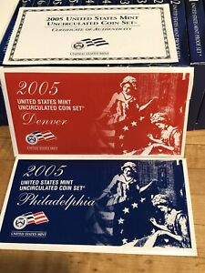 2005 US Mint Uncirculated Coin Set (22 Coins) P & D Mint with COA