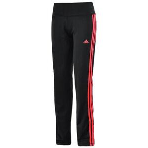 adidas Damen 3-Streifen Training Hose Workout Trainingshose Sporthose Kurzgrößen