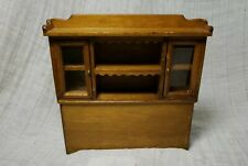 Vintage Dollhouse Wooden Dining Room Hutch EUC