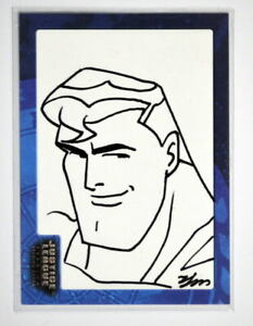 Justice League SK1 SUPERMAN SKETCH CARD #283/451 SIGNED Sung-Man Huh Inkworks