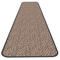 SKID-RESISTANT CARPET RUNNER hall area rug floor mat BLACK RIPPLE