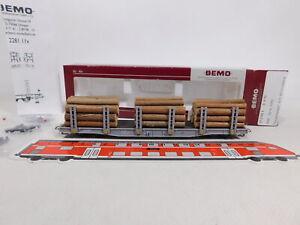 CU741-0,5# Bemo H0m/DC 2281 115 Rungenwagen mit Holzladung Sp-w 8355 RhB TOP+OVP