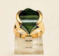 •PRICE REDUCED~JEWELRY BLOWOUT•____14K SOLID YELLOW GOLD JADEITE RING 7.5 GRAMS