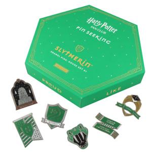 Harry Potter Fan Club Pin Seeking First Edition Slytherin House Enamel 6 Pin Set