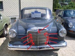 Fit For Mercedes Benz W110 Grill Moulding trim SET OF 9 Alu 190 190D 190C
