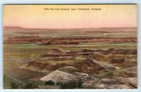 Vintage Postcard The Painted Desert Near Holbrook Arizona AZ Hand Colored
