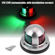 12V/24V Red & Green LED Navigation Signal Light Lamp Ass For Marine Boat Yacht