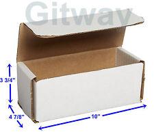 50 10 X 4875 X 375 Small White Cardboard Carton Mailer Shipping Box Boxes