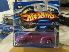 Hot Wheels Tail Dragger Red Lines #100 Short Card Purple
