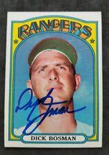 Dick Bosman Texas Rangers 1972 Topps autographed Baseball Card
